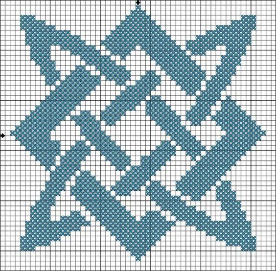 схема вышивки звезда Руси